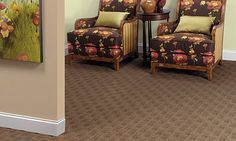 Patterned carpet can be perfect for your home! #CarpetIdeas #FlooringDesign