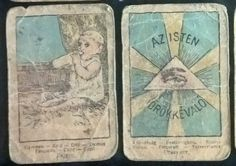 ANTIQUE  GIPSY FORTUNE TELLING CARDS - Art Nouveau cards: RARITY!!! - ca 1900-1910 * Only 9 cards  * HAND COLORED! * Production:  Hungary The charming images depict various life circumstances from around 1900. The captions are in 8 languages. *  * The cards show strong age related signs of wear. * Size: 55x82 mm * Price: 1 piece 20€, 9 pieces 150€ * Shipping: 9 pieces Free, 1 piece 6€ - Europa, USA * Payment: prepayment, bank account or in person * Owner: Evva Lena di Reirossi / Eva Ilona