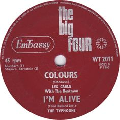 The Big Four (Colours / I'm Alive) - Les Carle with The Beatmen / The Typhoons (WT2011) Jun '65