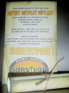 Custom Survivor Birthday Party Scroll Invitations