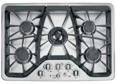 ge cgp350setss cafe 30u2033 stainless steel gas sealed burner cooktop