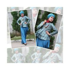 Blue Aiko Tosca - Modern Gamis Dress for #Hijab Women style.