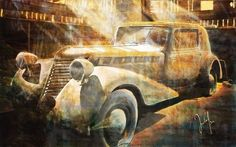 'Im Schuppen' von Georg Ireland bei artflakes.com als Poster oder Kunstdruck $18.03