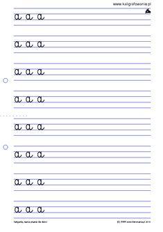 3 litery (W1) | Kaligrafia, nauka pisania dla dzieci, szablony do nauki pisania liter, szlaczki, sudoku, iq, rysowanie, nauka liczenia, szachy