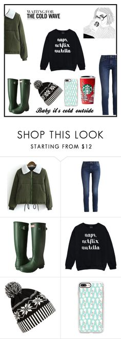 """Snow day"" by grantaire1832 ❤ liked on Polyvore featuring Calvin Klein, Hunter, WithChic and Casetify"