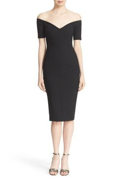 Cinq à Sept 'Jolie' Off the Shoulder Sheath Dress available at #Nordstrom