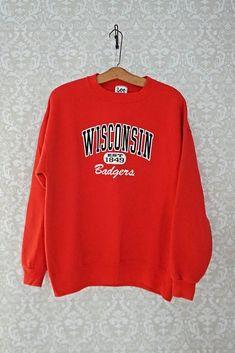 e1e4f731 Vintage 1980s Wisconsin Badgers + Crewneck Sweatshirt - closiTherapi |  vinTage 1980s, Graphic Sweatshirt,