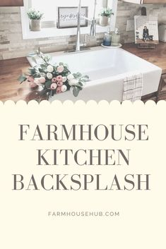 Today's goal is helping  you design your dream farmhouse kitchen by showing you options for best  tile backsplash that goes perfectly with your farmhouse kitchen sink.  #farmhouse #farmhousekitchen #farmhousekitchenbacksplash  #subwaytilebacksplash #morrocanbacksplash #slatetilebacksplash  #patternbacksplash #farmhousesink #backsplash #backsplashforkitchen  #subwaytile White Subway Tile Backsplash, Kitchen Backsplash, Kitchen Countertops, Farmhouse Apron Sink, Copper Farmhouse Sinks, Modern Farmhouse Decor, Farmhouse Kitchen Decor, Single Bowl Kitchen Sink, Tile Design