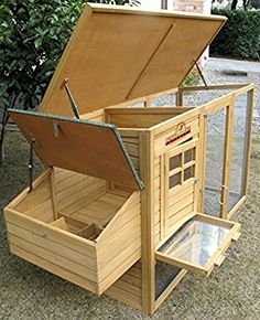 Pets Imperial® Wentworth Large Chicken Coop Hen Ark House Poultry Run Nest Box Rabbit Hutch Suitable For Up To 4 Birds - Integrated Run & Cleaning Tray & Innovative Locking Mechanism Backyard Chicken Coop Plans, Chicken Coop Pallets, Cheap Chicken Coops, Portable Chicken Coop, Chicken Tractors, Building A Chicken Coop, Chickens Backyard, Chicken Barn, Chicken Cages