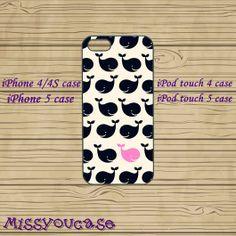 iphone 4 case,iphone 4s case,cute iphone 4 case,iphone 5 case,cute iphone 5 case,Whale,Blackberry Z10 case,Blackberry Q10 case,in plastic by Missyoucase, $12.95