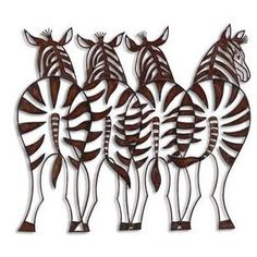 Wrought Iron Zebra Wall Decor-Cut Out Forged Metal | French ...