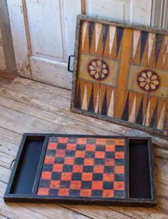 Decorate and have fun with these vintage game boards.