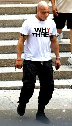 """Tom Hardy's tan from wearing the """"Bane"""" mask during the shooting of The Dark Knight Rises last summer."""