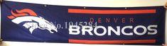 NFL Denver Broncos Flag Banner New 2x8ft  60x240cm 100D Polyester Large Banner, free shipping