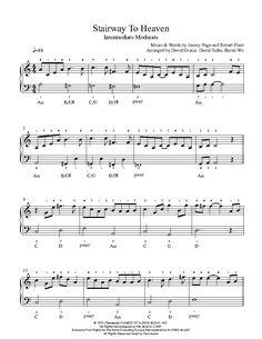 Stairway To Heaven by Led Zeppelin Piano Sheet Music | Intermediate Level