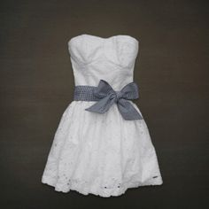 It's strapless, so it might be a little immodest. But I could wear a summery jean jacket with it and some capri leggings that are the same color as the bow.  <3