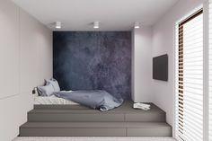 Łóżko na podeście - pokój młodzieżowy