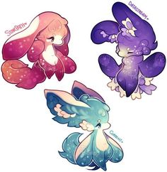 [Nubeiru] Set Price - Closed by pairoe on DeviantArt If These cute creatures existed, the would be worth Millon's! Pet Anime, Anime Animals, Anime Art, Cute Animal Drawings, Kawaii Drawings, Cute Drawings, Cute Creatures, Fantasy Creatures, Mythical Creatures