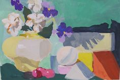Still Life 014...gouache watercolor small painting by LindaHunt