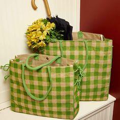 Picnic Lime Small Burlap Tote Burlap Tote, Burlap Crafts, Diaper Bag, Picnic, Lime, Limes, Diaper Bags, Mothers Bag, Picnics