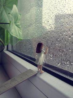 Girl at the Rain Window by Sergey Teplov. S)