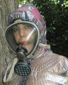Clear faced gasmask