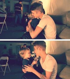 Justin and Jaxon have the cutest relationship ever