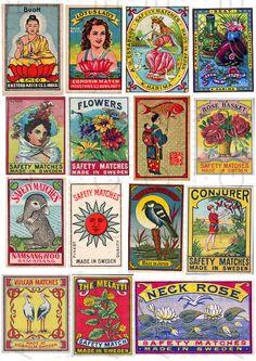 Vintage Packaging, Vintage Labels, Tarot, Label Image, Matchbox Art, Vintage Design, Vintage Art, Vintage Graphic, Japanese Graphic Design