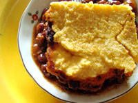 Vegetarian Chili and Cornbread Casserole
