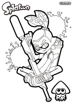 Splatoon Coloring Sheet Printable Coloring Pages