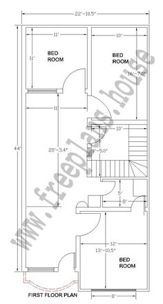 22x44 Feet House Plan