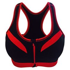 edf3276e978b4 Professional Shockproof Zipper Sports Bra Women Padded Gym Fitness Yoga Bra  Quickdry Breathable Running Push Up Workout Tank Top