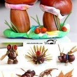 6 New Chestnut, Acorn and Plasticine IDEAS. Easy and fun for kids and for us!