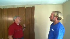 how to paint wood paneling properly.