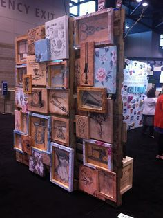 Coffee & Trace: visual merchandising - Ace Designs GlobalShop booth... Yes, we made this!