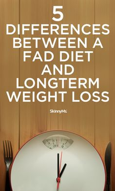 5 Differences Between A Fad Diet and Longterm Weight Loss #skinnyms #weightlossmotivation