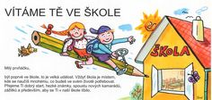 Pamětní kartička – BE-59001 ... upomínka na zápis do 1. třídy ZŠ nebo na první školní den. VÝHODNÁ NABÍDKA! :: Jarmila Langerová Aa School, School Clubs, Presents For Kids, School Themes, Preschool Crafts, Winnie The Pooh, Comics, Disney Characters, Children