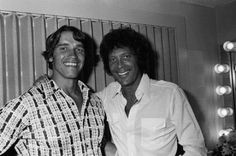 Arnold Schwarzenegger and Tom Jones