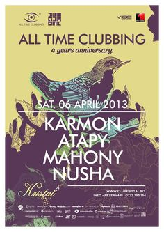 Alltimeclubbing anniversary with Karmon at Kristal Glam Club Bucharest 4 Year Anniversary, Bucharest, All About Time, Parties, Club, Youtube, Fiestas, Fiesta Party, Party