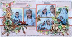 When I saw the amazing scrapbooking collection I had so many ideas in my head but knew I had to create a Bohemian Muse layout of my grandkids Scrapbook Layouts, Scrapbook Paper, Scrapbooking, White Acrylic Paint, White Acrylics, Arrow Stencil, Distress Oxides, Dry Brushing, Wild And Free
