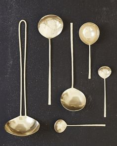 Japanese Brass Spoons
