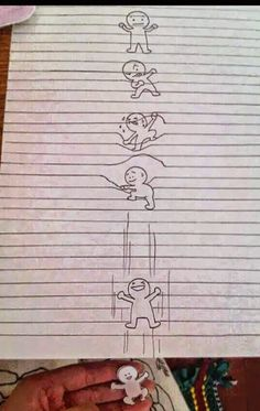 FUN INVENTORS: Optical illusion Drawing on lined paper!