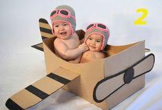 newborn gorro aviador p/ fotos de bebês Mais