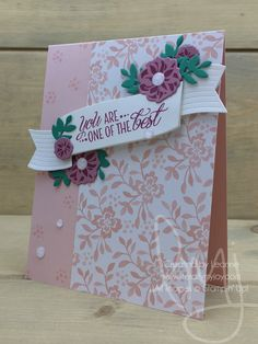 One of the Best | Stampin\' Up! | Lovely Friends #literallymyjoy #mothersday #flowers #bestmom #mother #mom #mum #mommy #sweetsugarplum #berryburst #emeraldenvy #powderpink #20172018AnnualCatalog