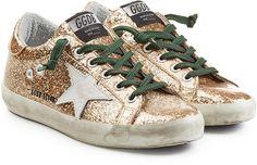 Golden Goose Super Star Glitter Sneakers