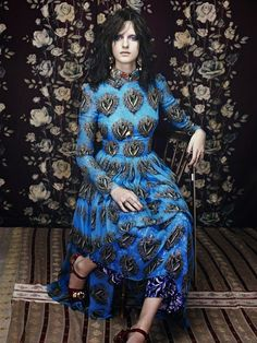 """Duchess Dior: """"Let the Music Play"""" by Elena Rendina for Sunday Times Style Magazine March 2015 Stefano Gabbana, Textures Patterns, Dior, Vintage Fashion, Bohemian, Dresses With Sleeves, Let It Be, Magazine, Long Sleeve"""