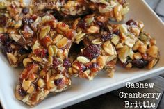 Cashew Cranberry Brittle makes a great Christmas gift. #Christmas #Cashew #Brittle