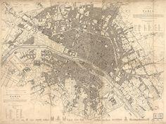 Vintage sepia tones map of Paris France 1834 https://www.etsy.com/listing/82297096/vintage-map-paris-france-1834 #Paris #France