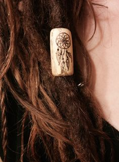 Dream Catcher Dreadlock Bead by Woodenspired on Etsy 10mm