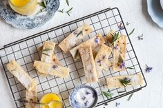 Start the new year with lavender shortbread - January's free wallpaper - Yuppiechef Magazine Sarah Graham, Lavender Shortbread, Biscuit Bar, Cooking School, Lemon Curd, Confectionery, Biscuits, Sweet Treats, Baking